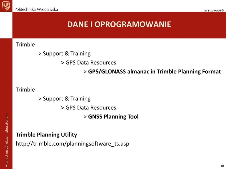 Trimble > Support & Training > GPS Data Resources > GNSS Planning