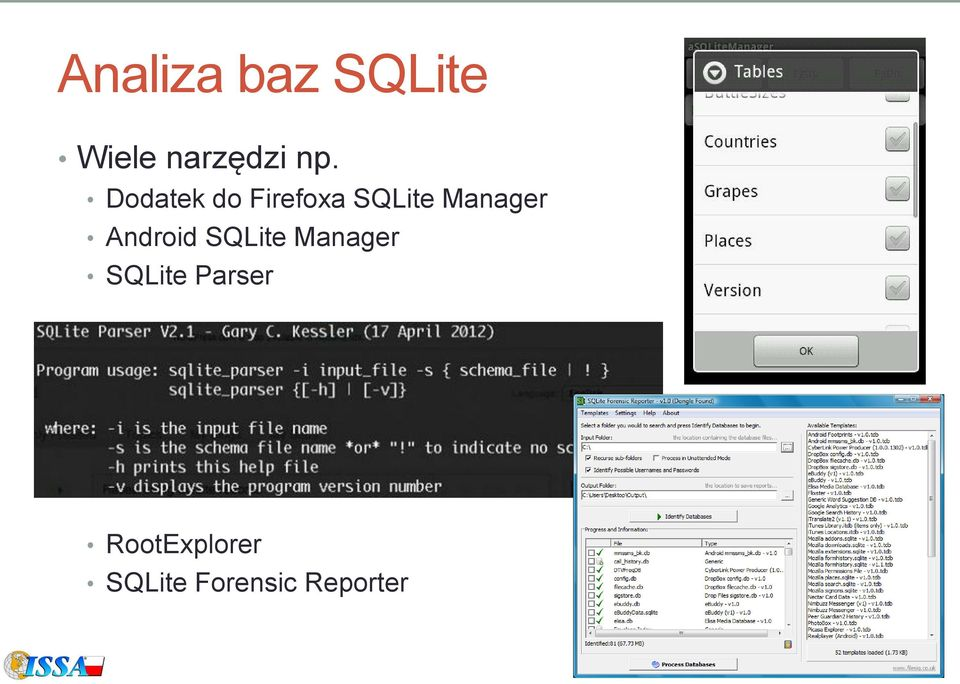 Android SQLite Manager SQLite Parser