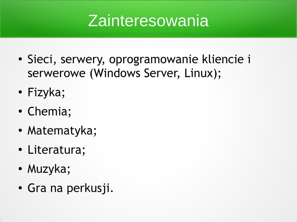 (Windows Server, Linux); Fizyka;