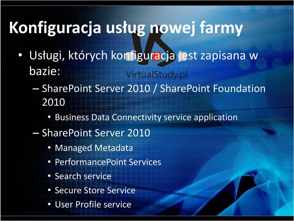 Connectivity service application SharePoint Server 2010 Managed Metadata