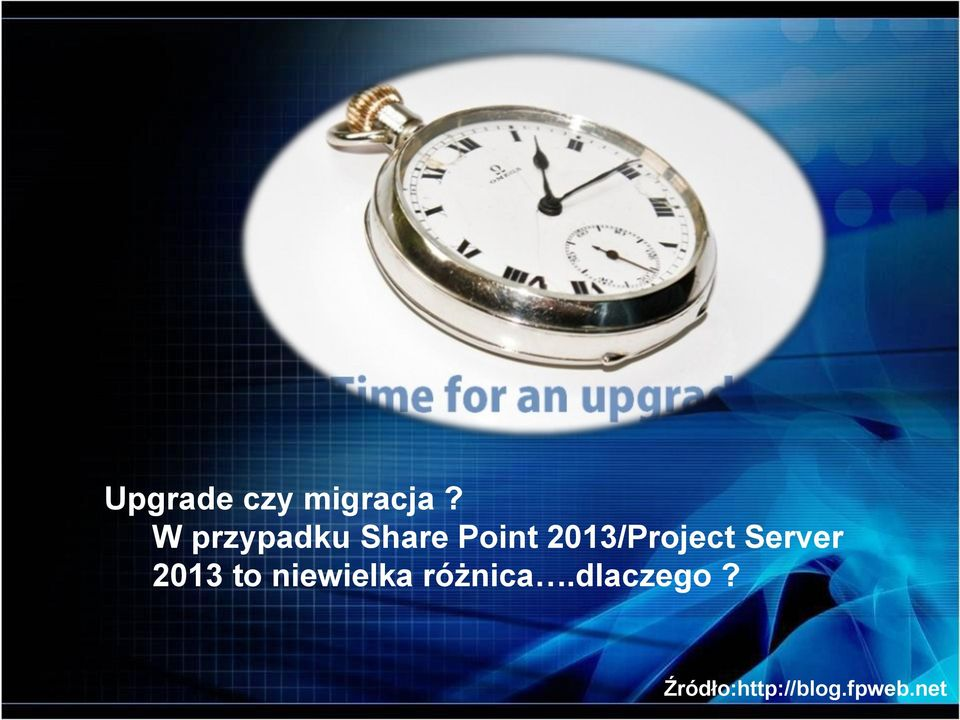 2013/Project Server 2013 to