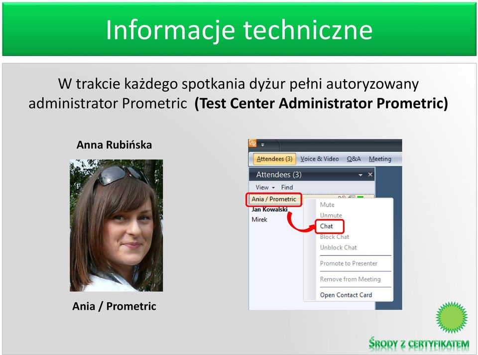 administrator Prometric (Test Center