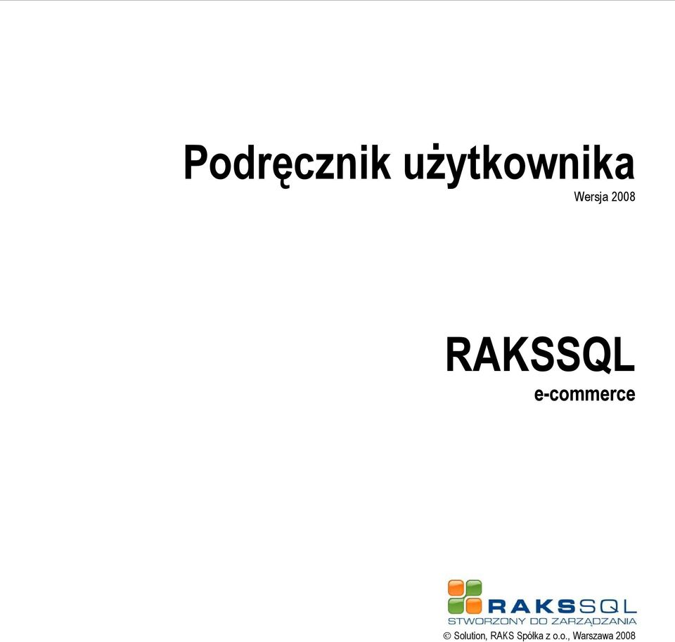 RAKSSQL e-commerce