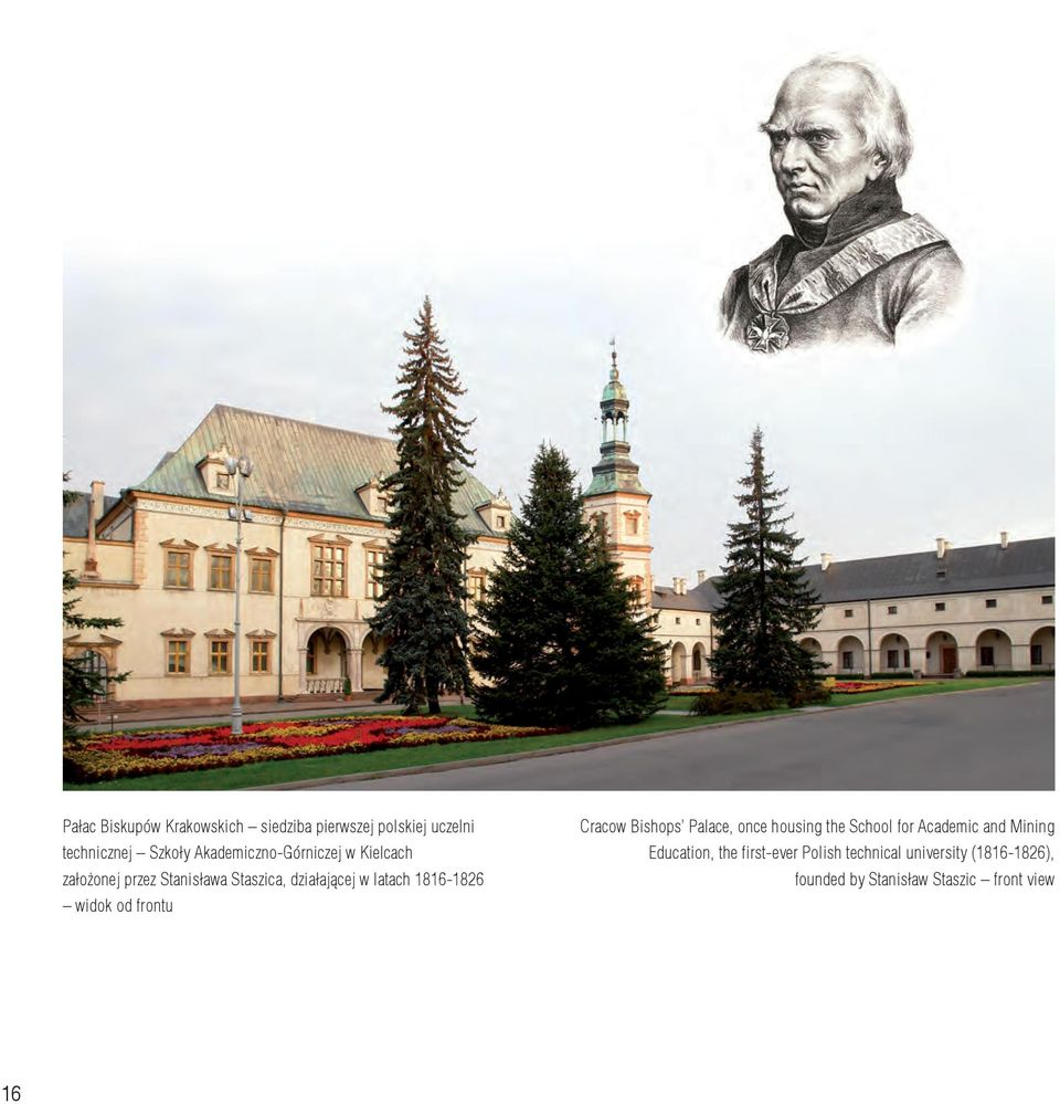 1816-1826 widok od frontu Cracow Bishops Palace, once housing the School for Academic and