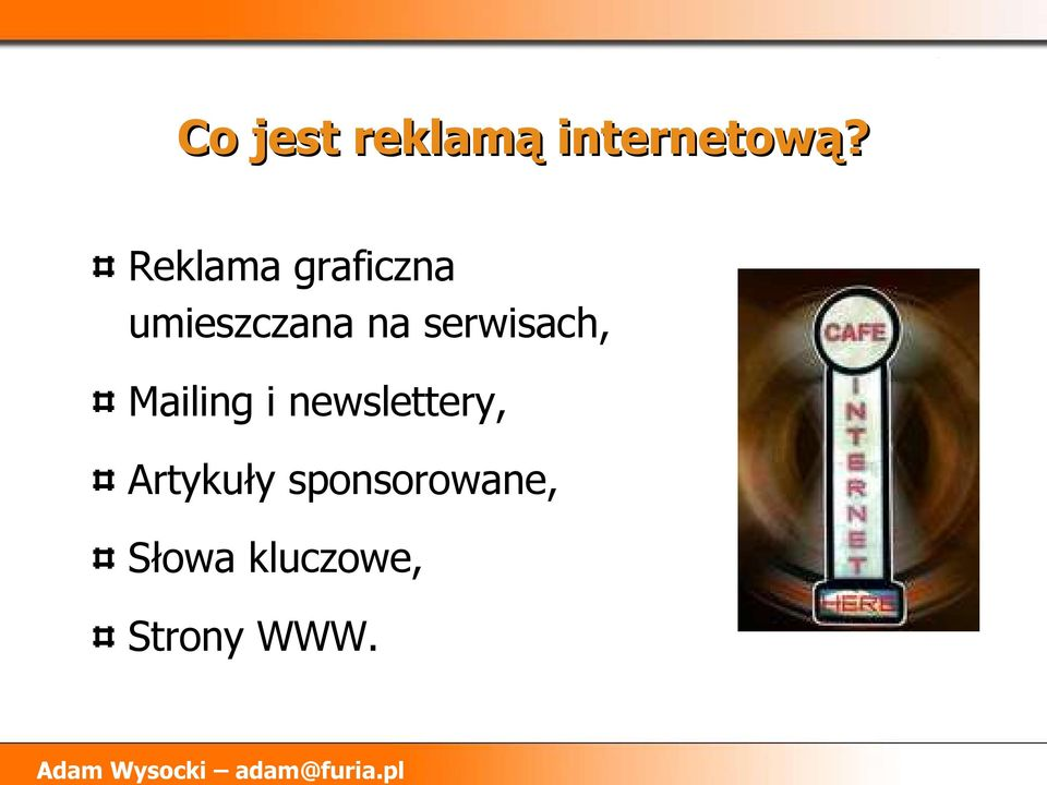 serwisach, Mailing i newslettery,