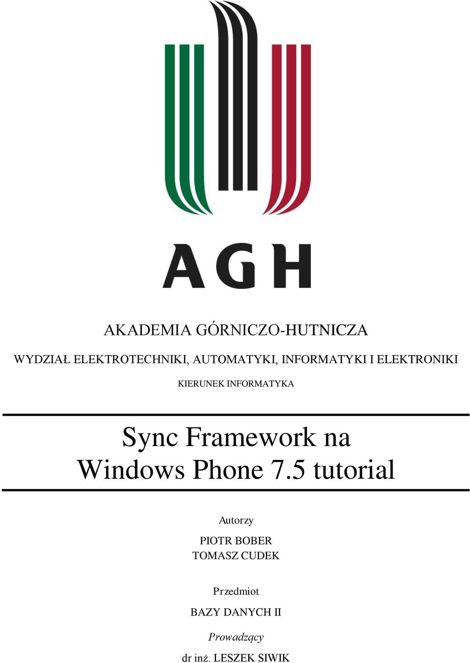 Sync Framework na Windows Phone 7.