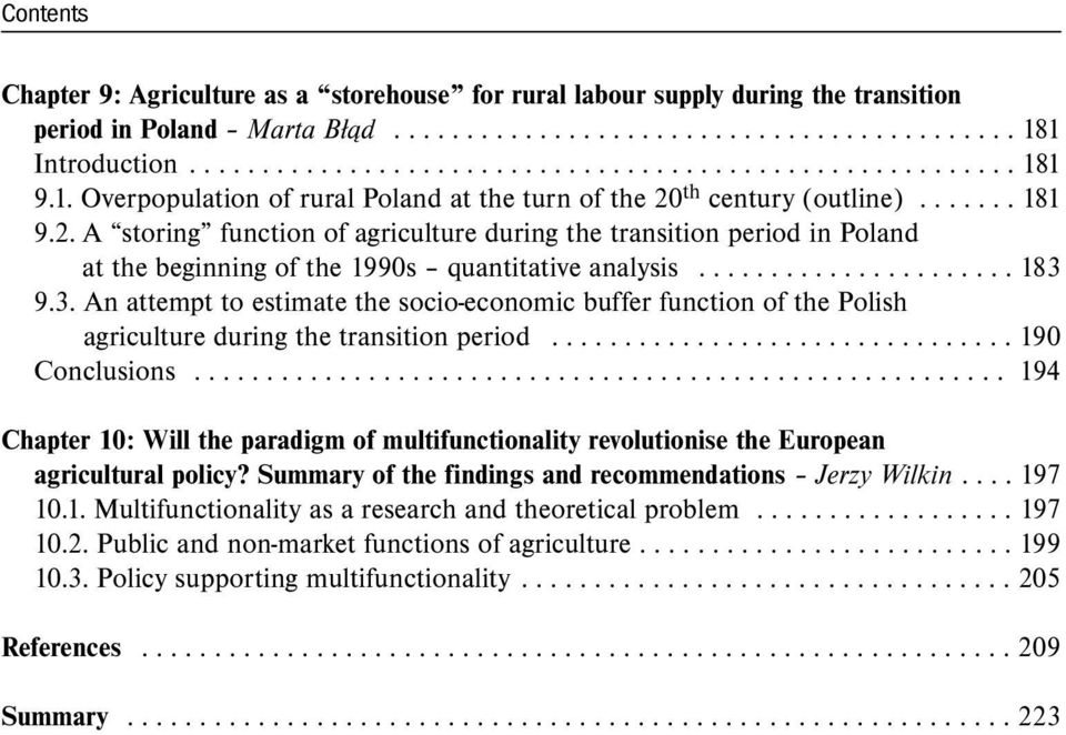 An introduction to the analysis of agriculture