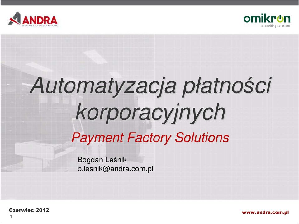 Payment Factory Solutions