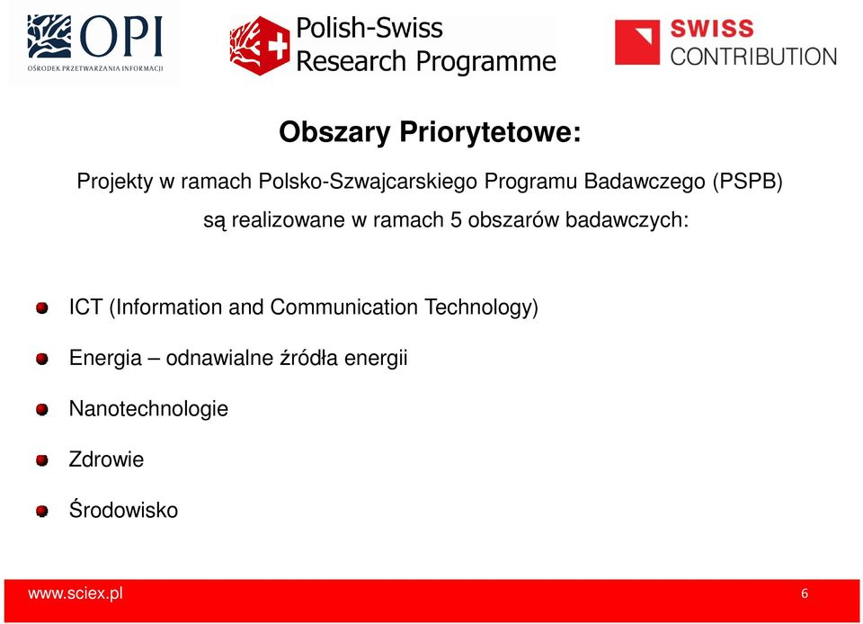 badawczych: ICT (Information and Communication Technology) Energia