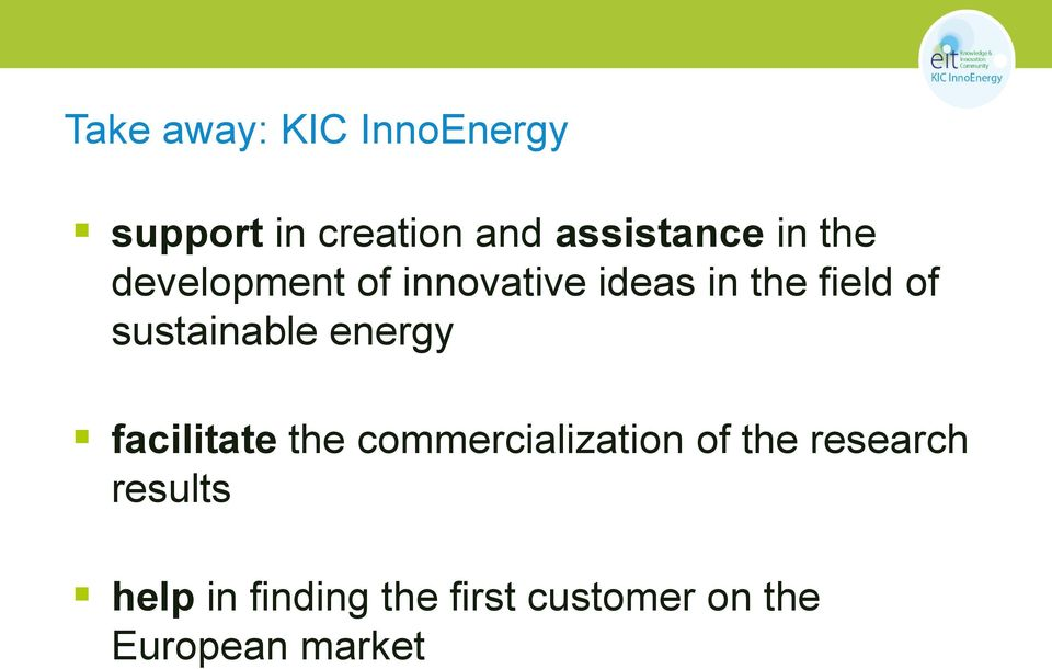 sustainable energy facilitate the commercialization of the