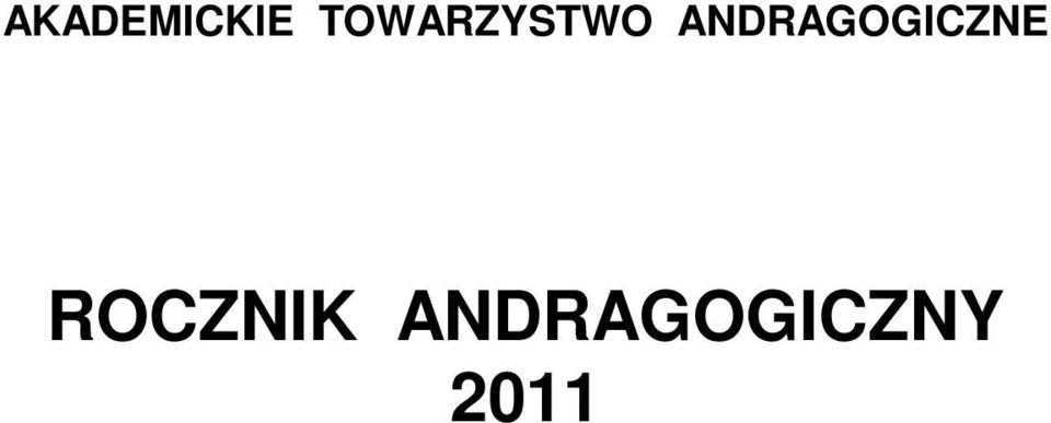 ANDRAGOGICZNE