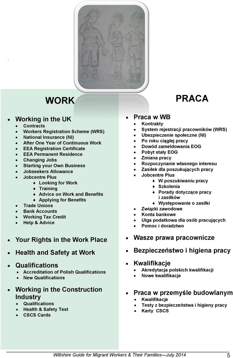 Your Rights in the Work Place Health and Safety at Work Qualifications Accreditation of Polish Qualifications New Qualifications Working in the Construction Industry Qualifications Health & Safety