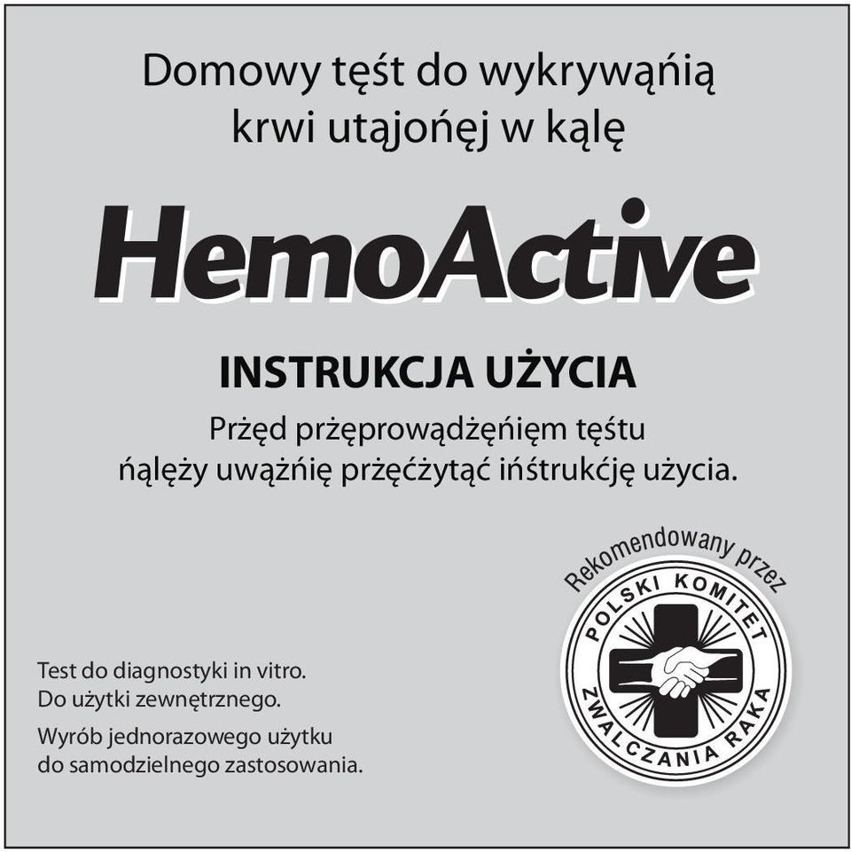 instrukcje u ycia. Test do diagnostyki in vitro.
