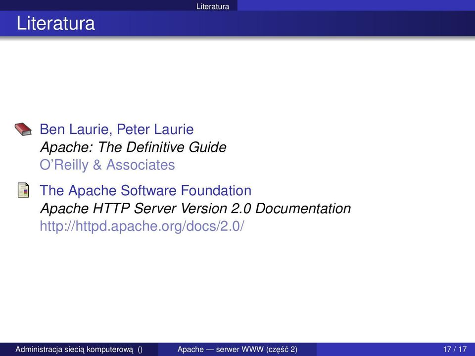 Foundation Apache HTTP Server Version 2.
