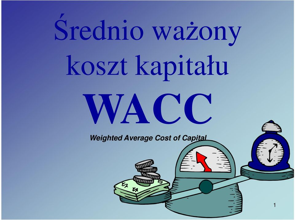 WACC Weighted
