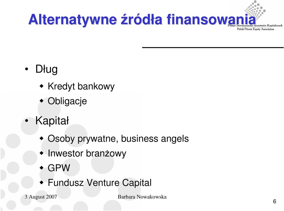 Osoby prywatne, business angels