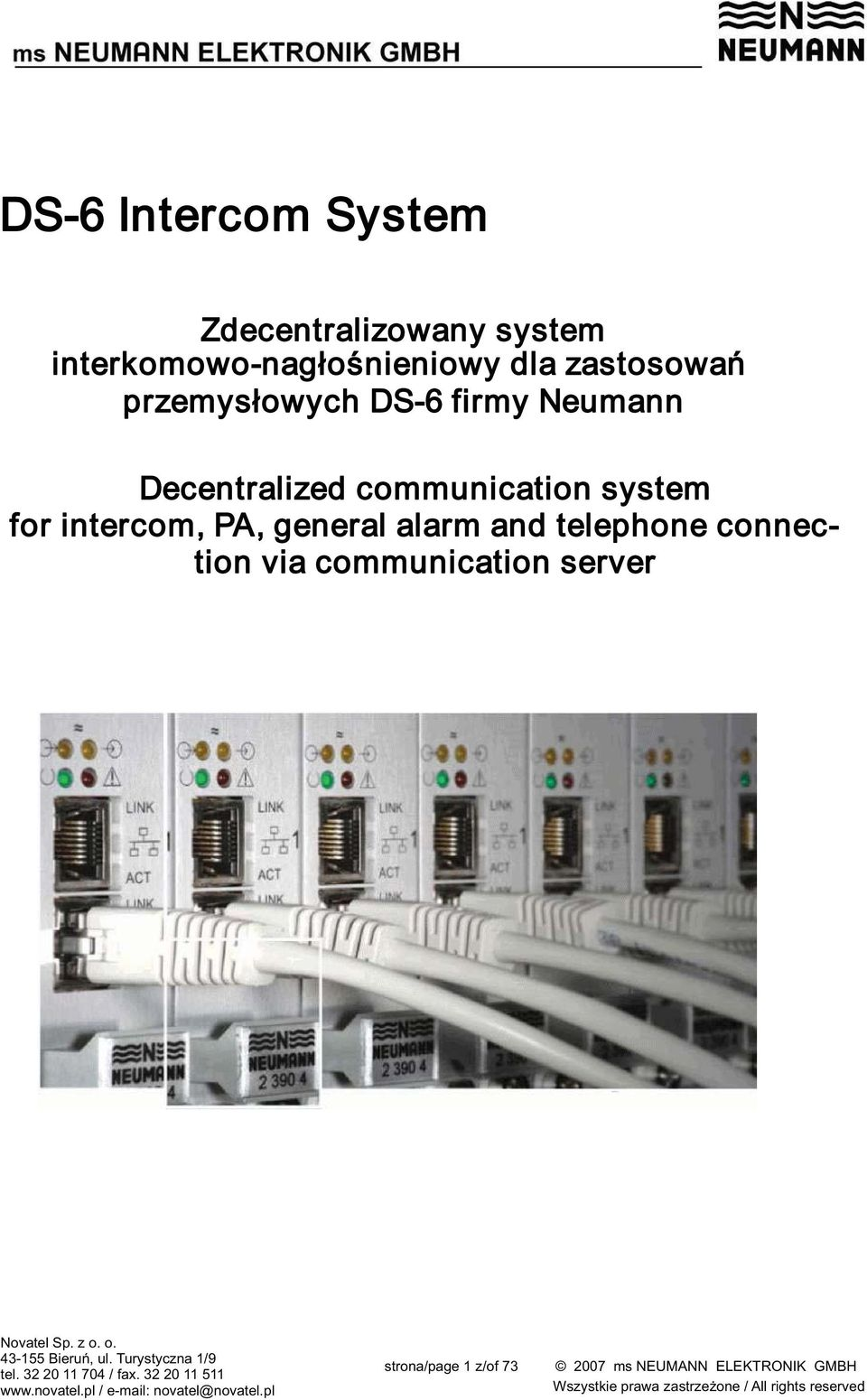 firmy Neumann Decentralized communication system for intercom,