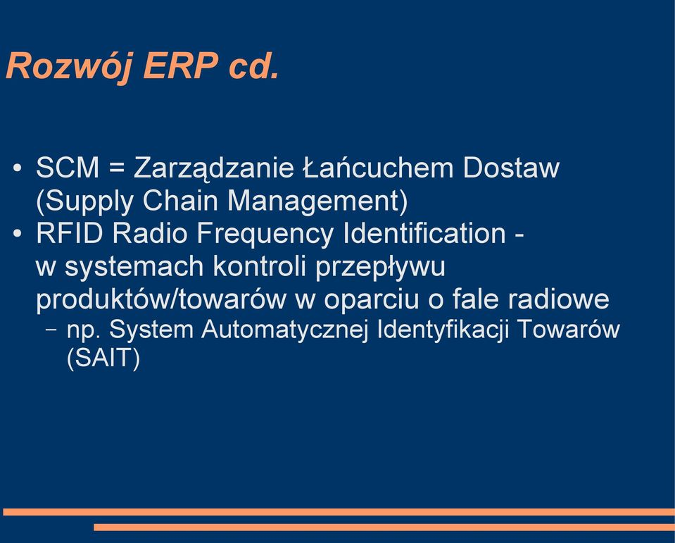 RFID Radio Frequency Identification - w systemach kontroli