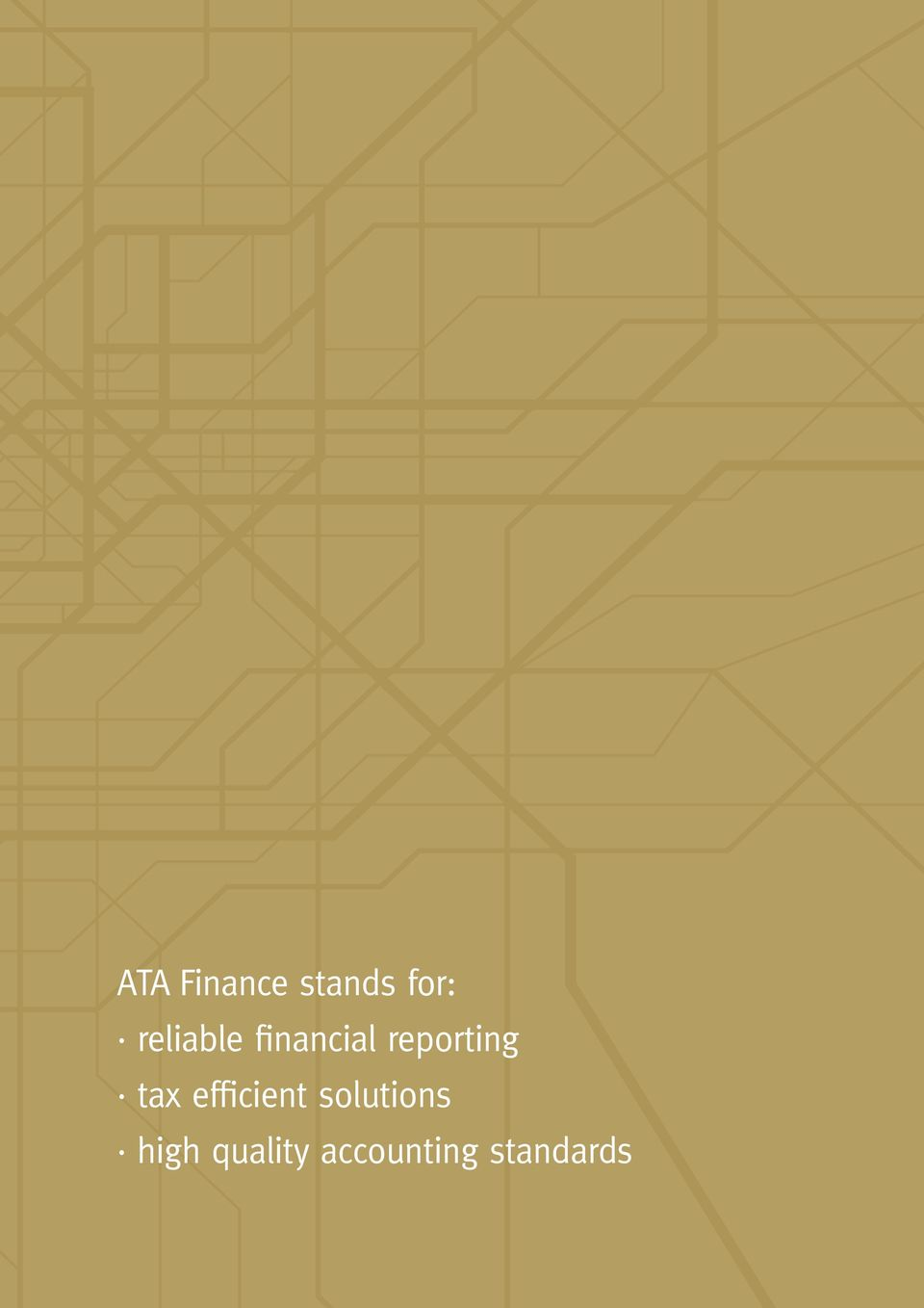 reliable financial reporting tax