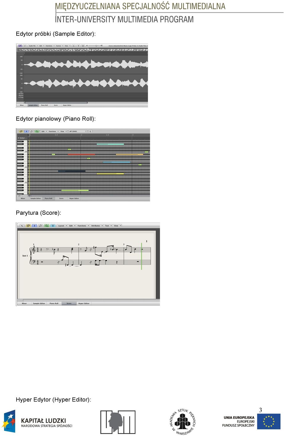 (Piano Roll): Parytura