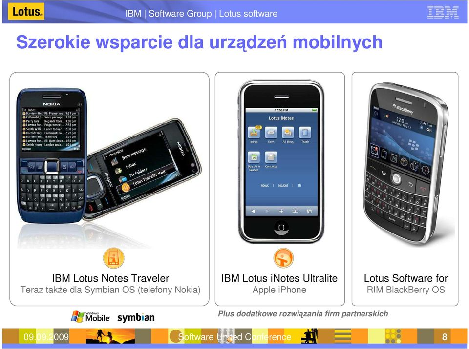 Ultralite Apple iphone Lotus Software for RIM BlackBerry OS Plus