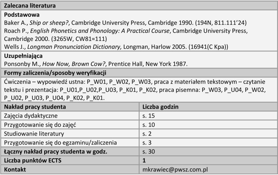 (16941(C Kpa)) Uzupełniająca Ponsonby M., How Now, Brown Cow?, Prentice Hall, New York 1987.
