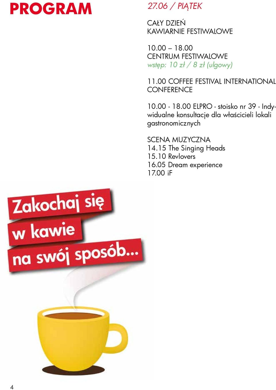00 COFFEE FESTIVAL INTERNATIONAL CONFERENCE 10.00-18.