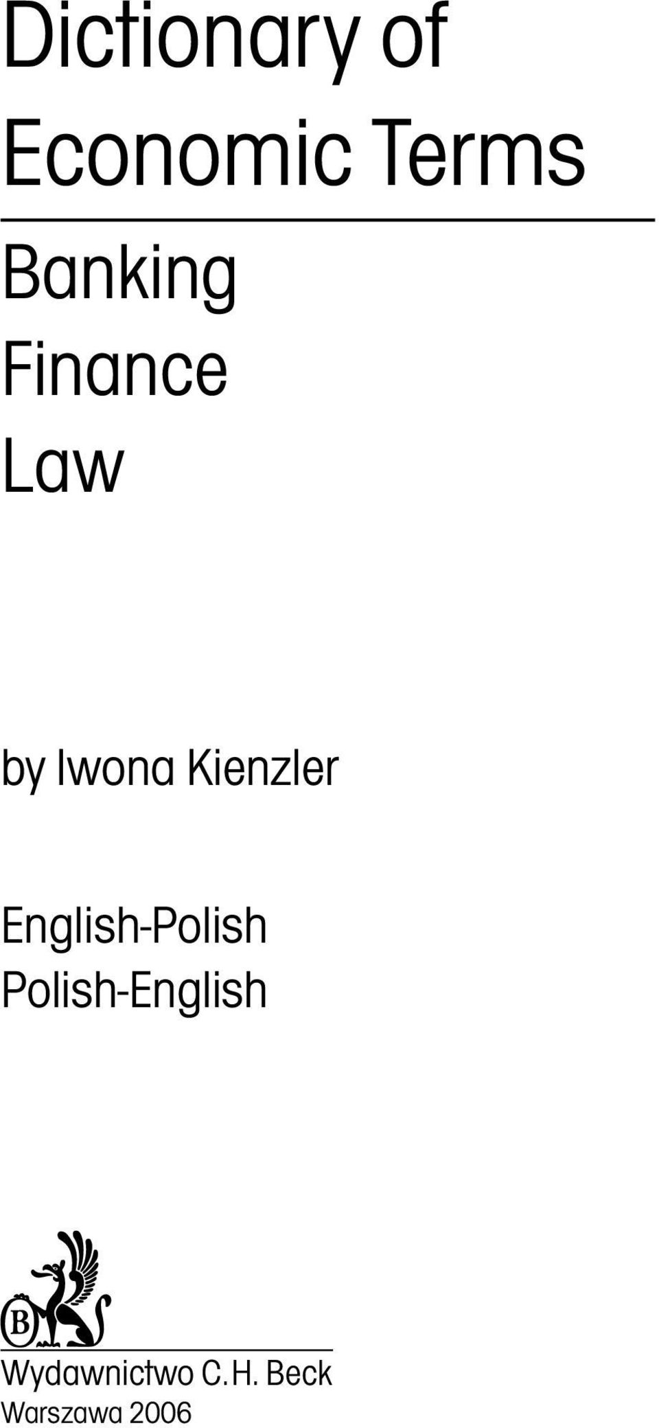 Kienzler English-Polish