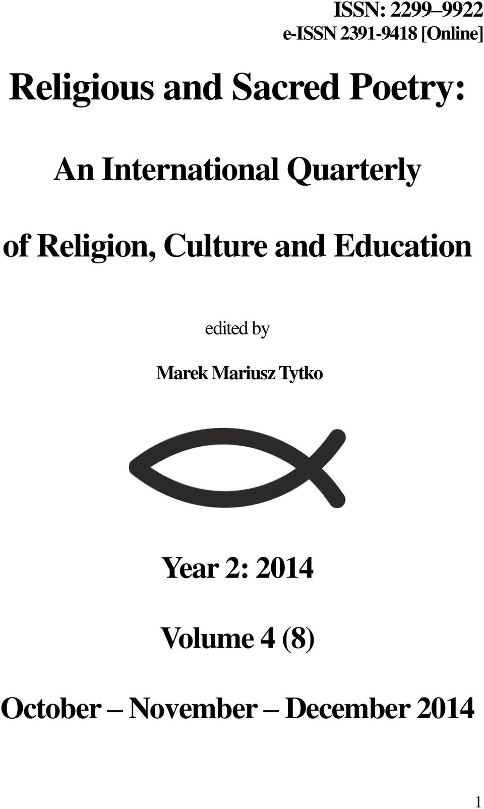 Culture and Education edited by Marek Mariusz Tytko