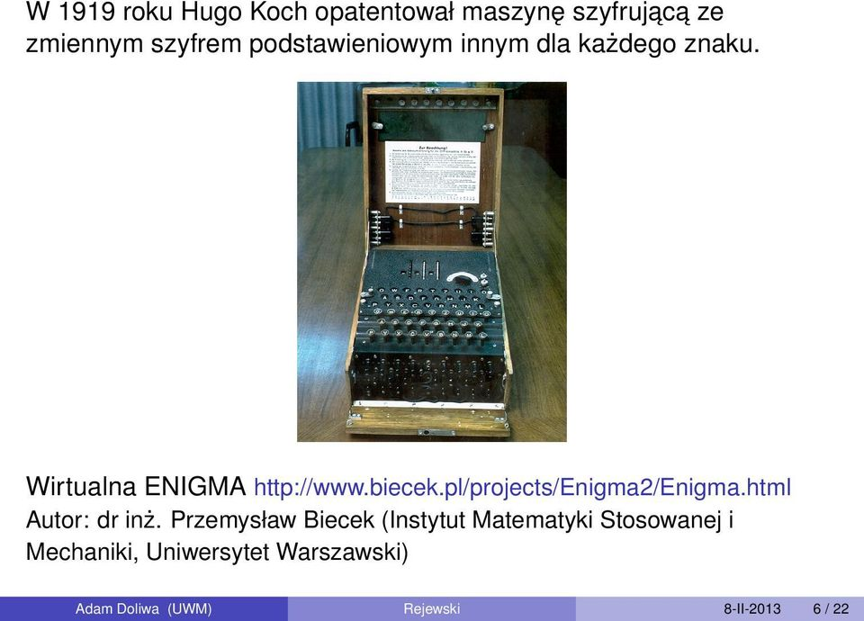pl/projects/enigma2/enigma.html Autor: dr inż.