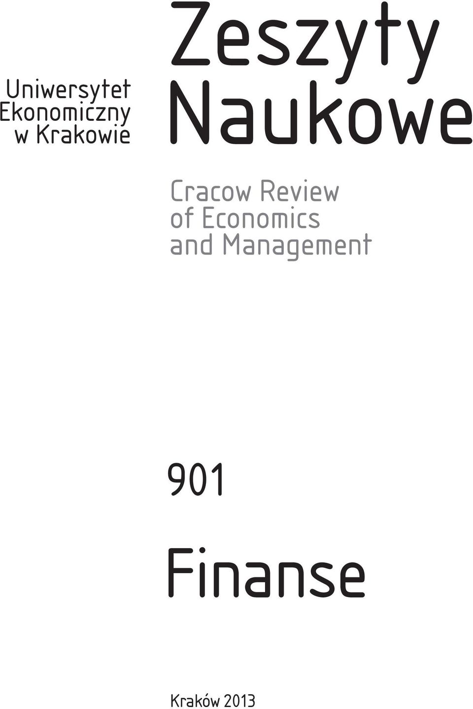 Cracow Review of Economics