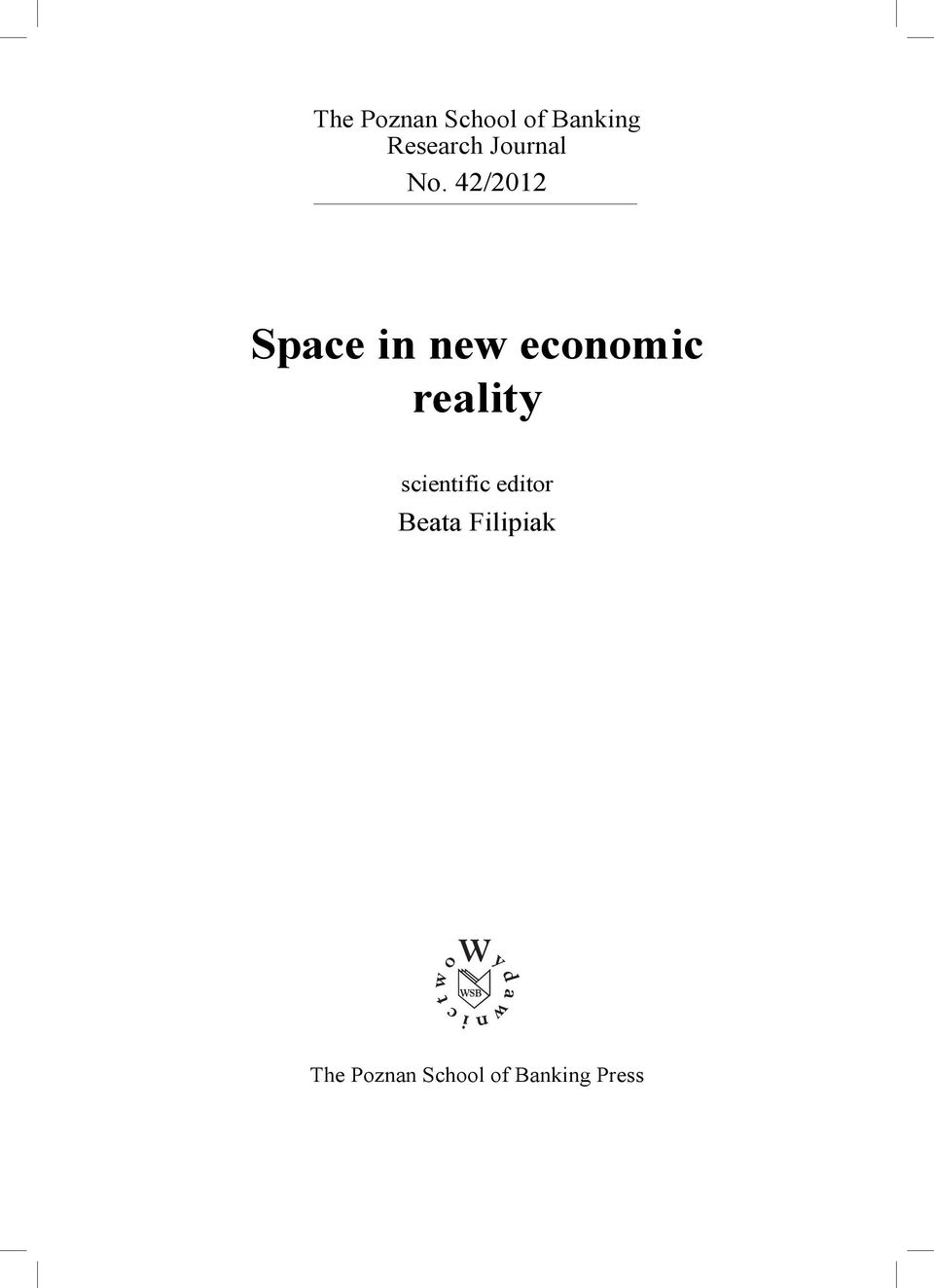 42/2012 Space in new economic reality