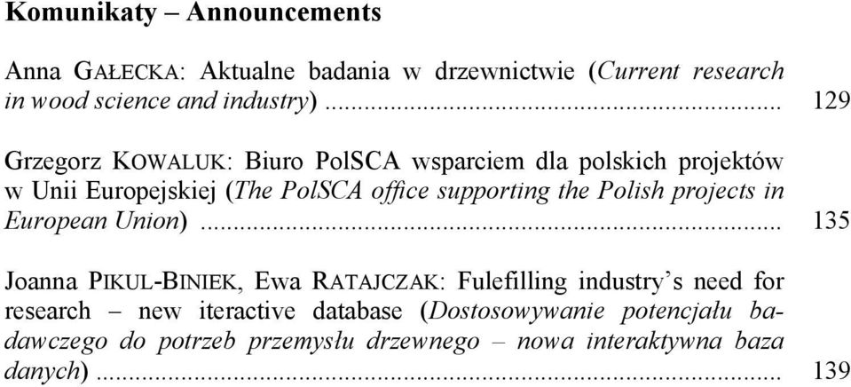 the Polish projects in European Union).