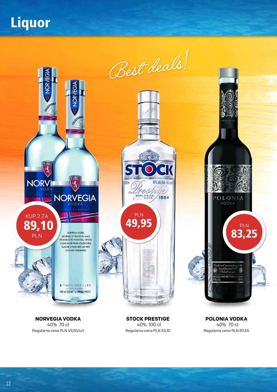 VODKA 40% 70 cl 49,05/szt STOCK