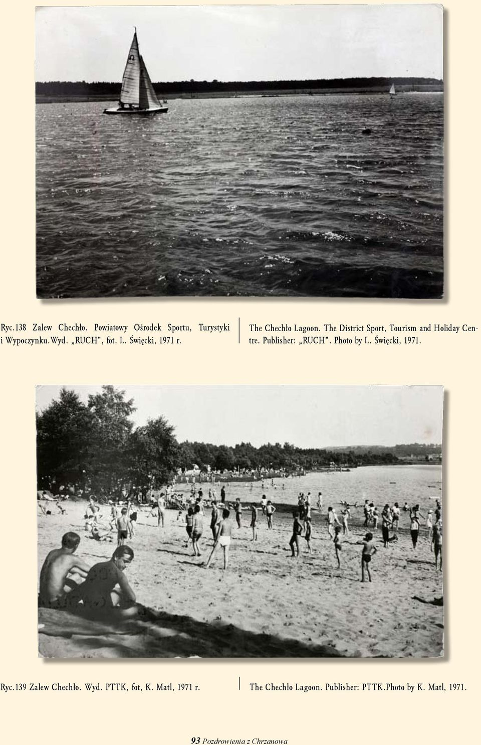 Publisher: RUCH. Photo by L. Święcki, 1971. Ryc.139 Zalew Chechło. Wyd. PTTK, fot, K.