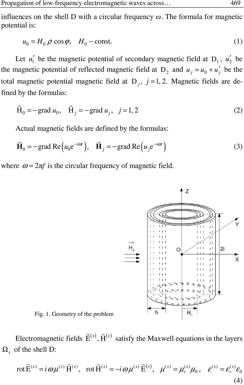 magnetic field at D j, j = 1, 2.