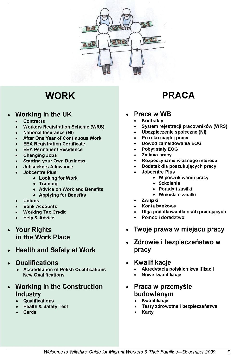 Rights in the Work Place Health and Safety at Work Qualifications Accreditation of Polish Qualifications New Qualifications Working in the Construction Industry Qualifications Health & Safety Test