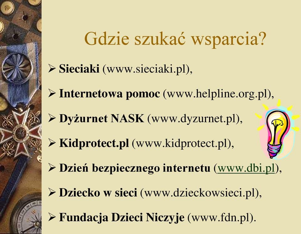 dyzurnet.pl), Kidprotect.pl (www.kidprotect.
