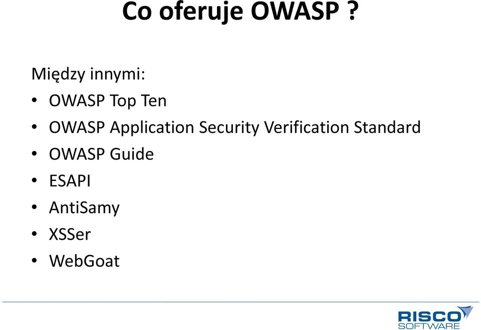 OWASP Application Security
