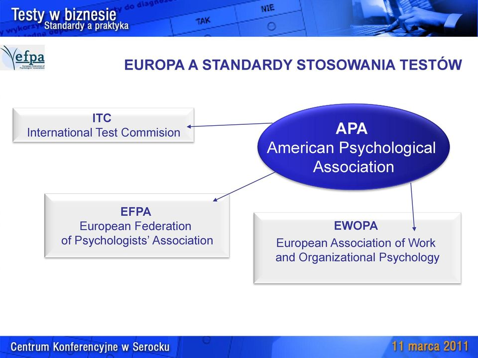 EFPA European Federation of Psychologists Association