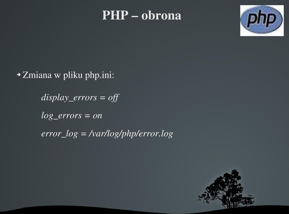 ini: display_errors=off