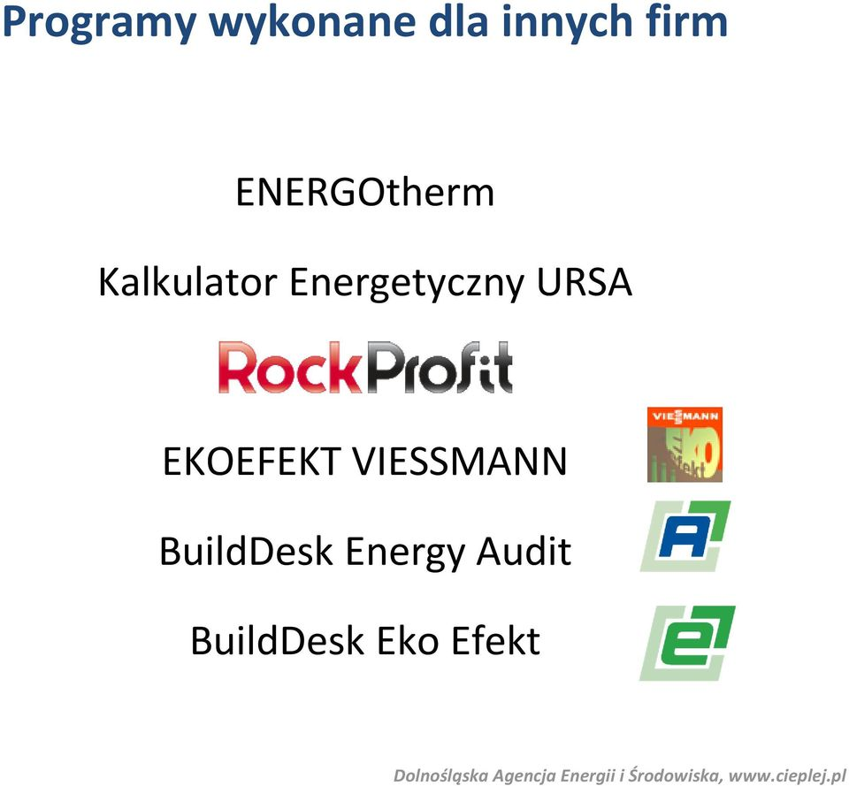 BuildDesk Energy Audit BuildDesk Eko Efekt