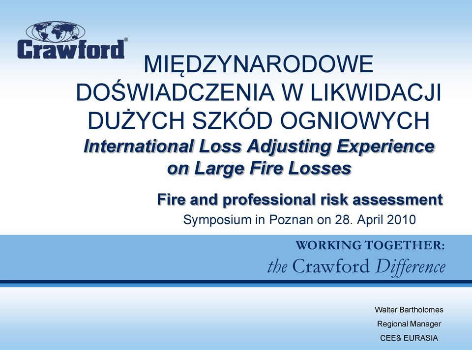 professional risk assessment Symposium in Poznan on 28.