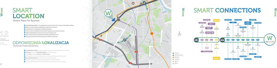 Only 12 minutes by car to the airport and 15 minutes to the centre Proximity to major roads leading to Wrocław, Katowice, Kraków, Łódź, Poznań and the A2 motorway Excellent transportation hub: many