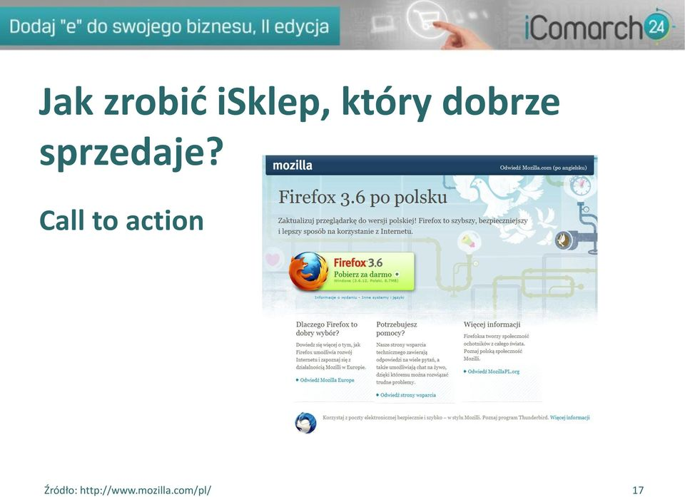 Call to action Źródło: