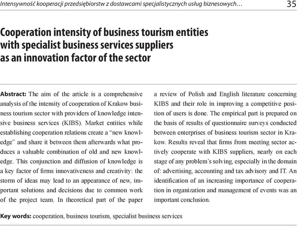 business services (KIBS).