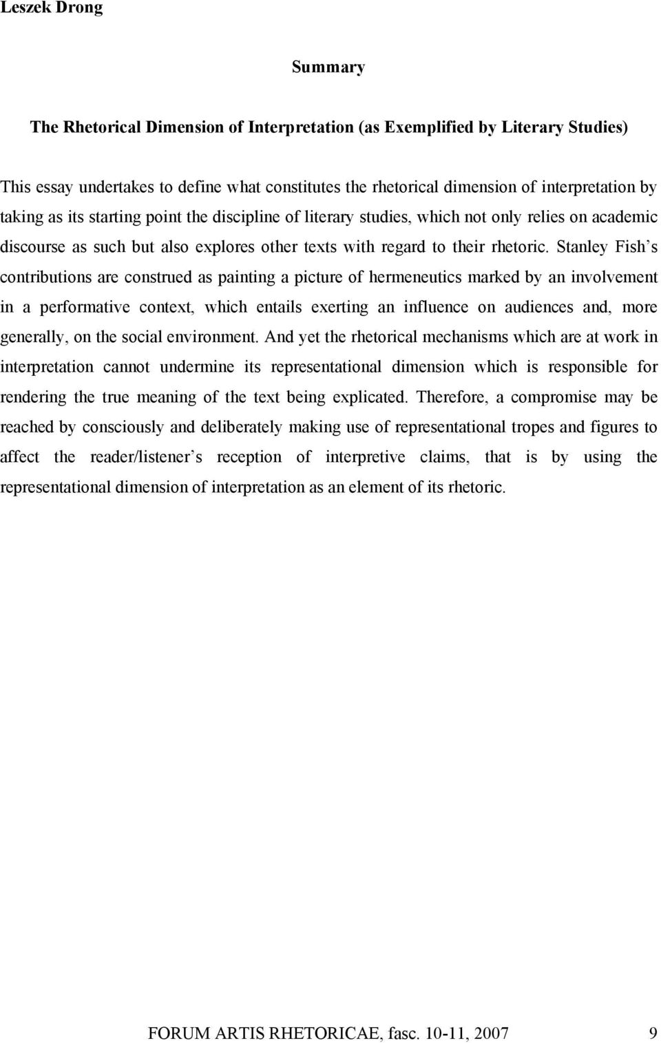 stanley fish reader response theory pdf