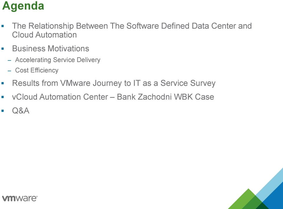 Delivery Cost Efficiency Results from VMware Journey to IT as a