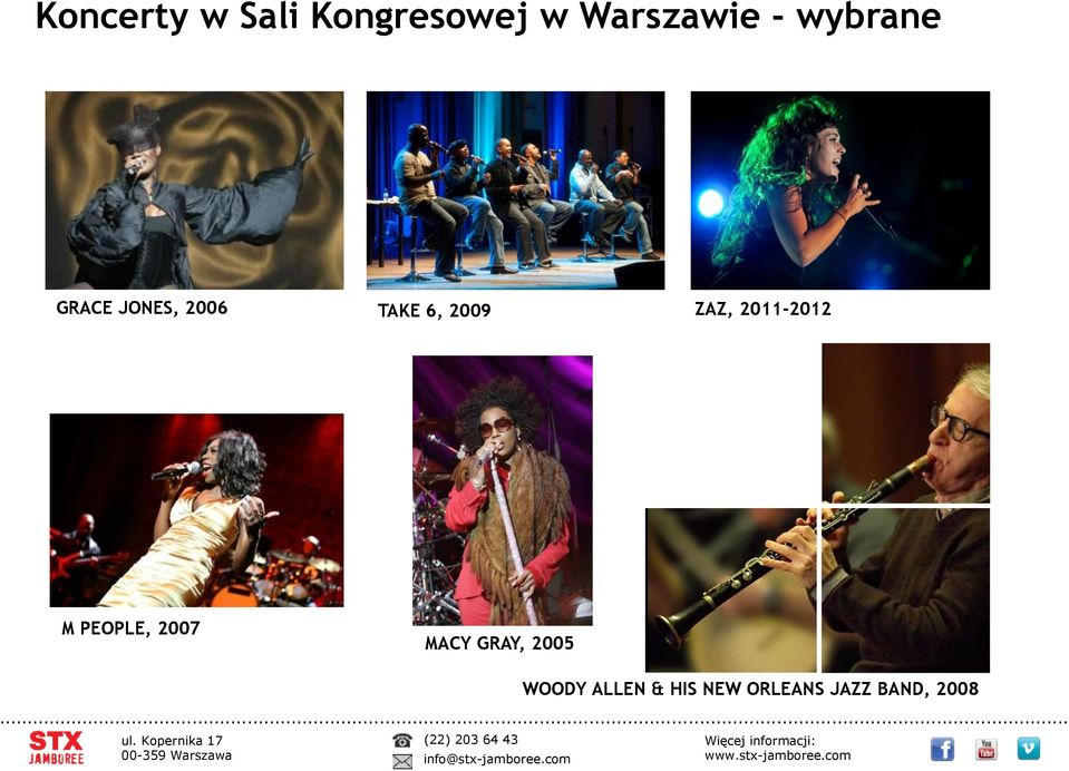 ZAZ, 2011-2012 M PEOPLE, 2007 MACY GRAY,