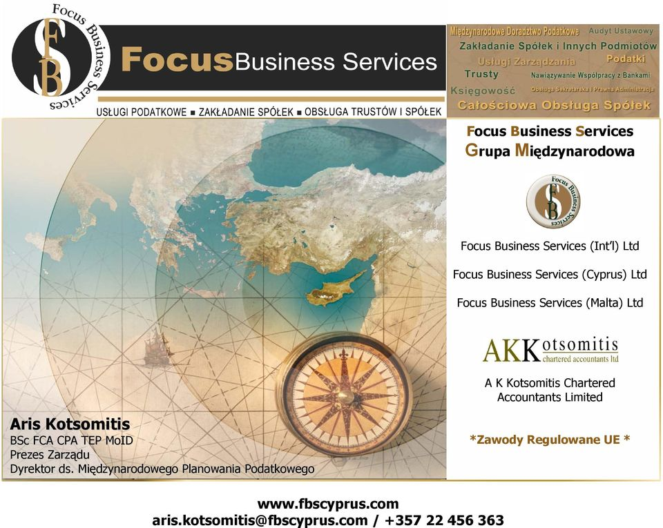 Kotsomitis Chartered Accountants Limited Aris Kotsomitis BSc FCA CPA TEP MoID
